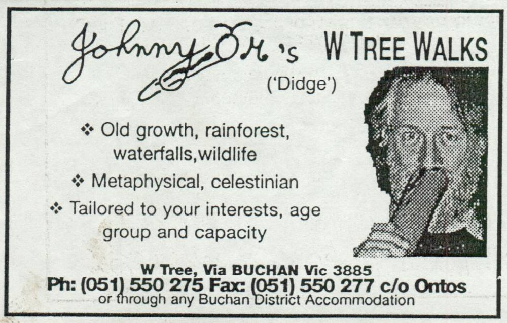 Johnny Om's W TREE WALKS card